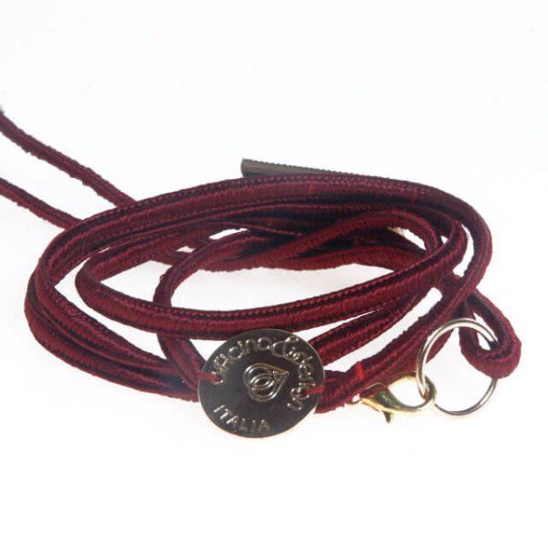 Bracciale cordone con piastra in rame e resina artistica