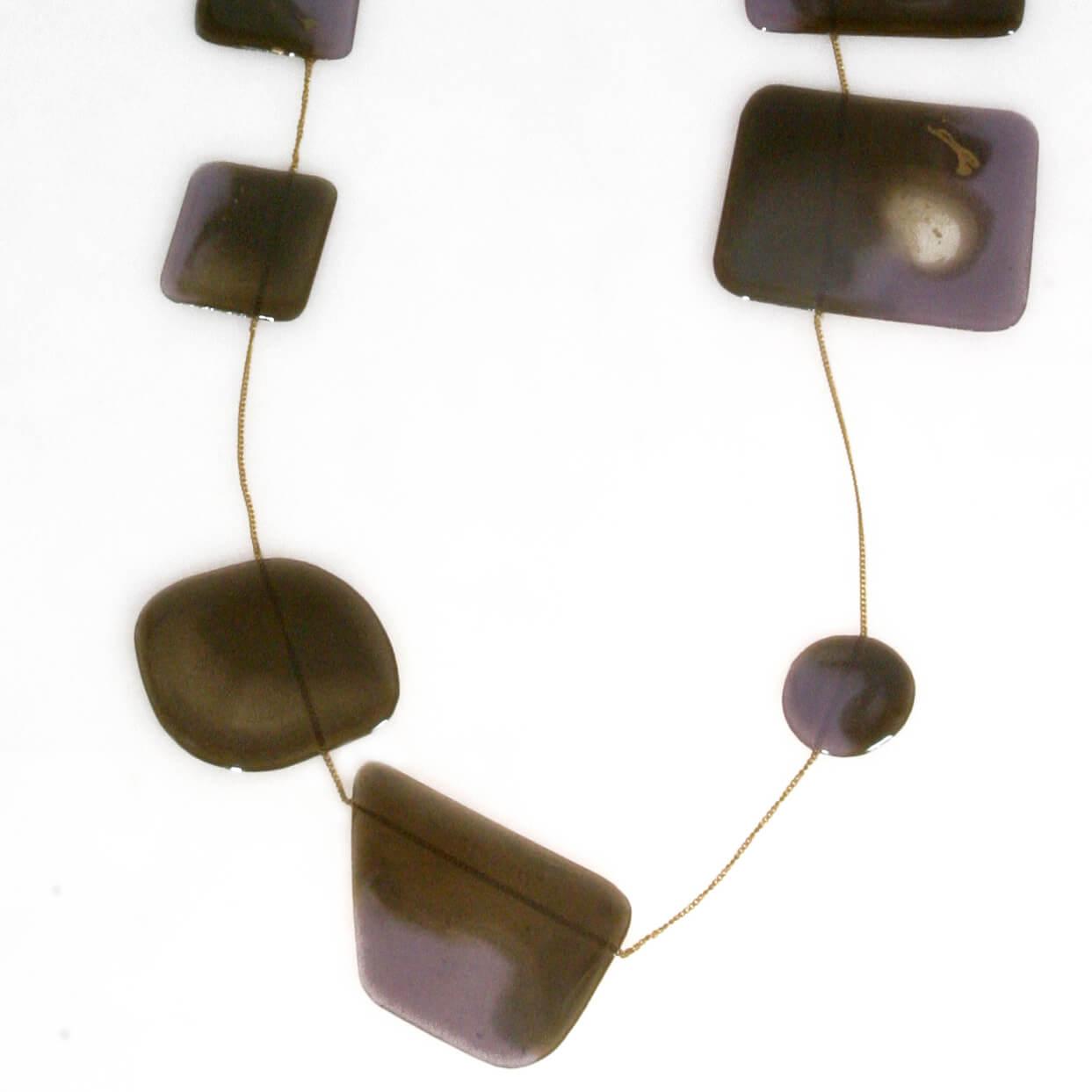 Collana con catena bagno d 39 oro e piastre in resina for Bagno d oro