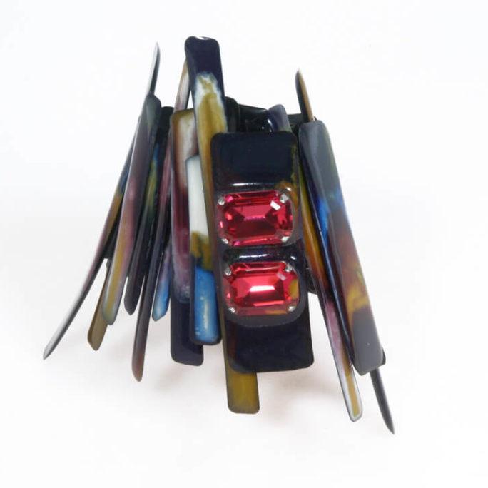 Bracciale bacchette multicolor con pietre Swarovski